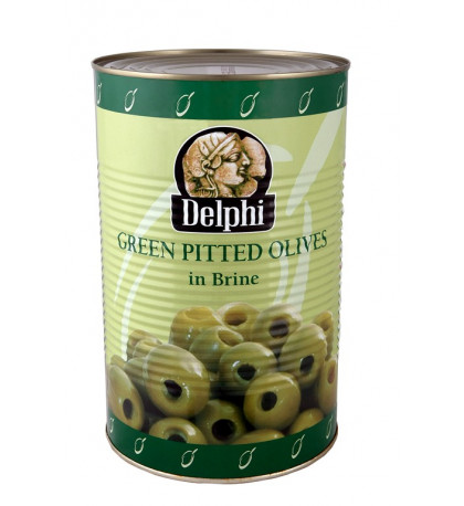 Оливки Delphi зеленые, б/к в большой банке 4250г.