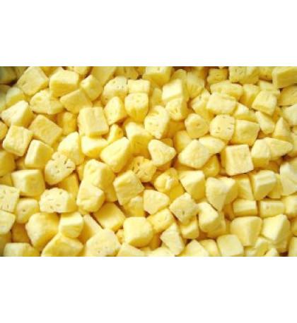 Замороженный ананас, 10кг кубик