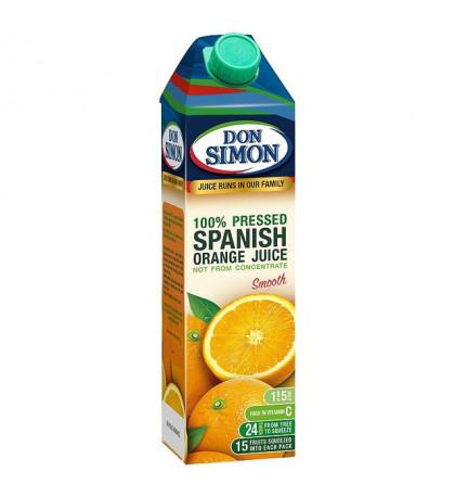 Сок апельсиновый 100% Don Simon, 1л