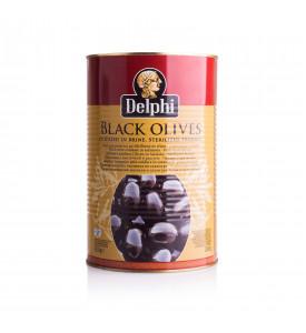 Маслины большая банка 4250г, без косточки Delphi, Греция