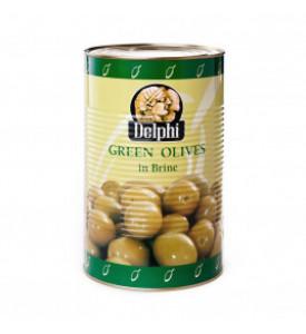 Оливки Delphi зеленые, с/к в большой банке 4250г.
