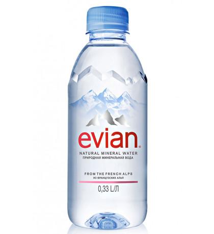 Evian 0,33 минеральная вода без газа