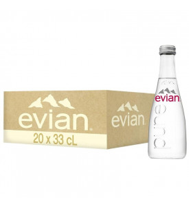 Evian 0,33 минеральная вода без газа в стекле